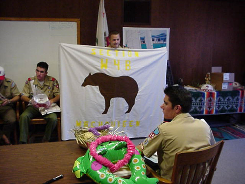 2001 - Section W4B Meeting and Section Flag