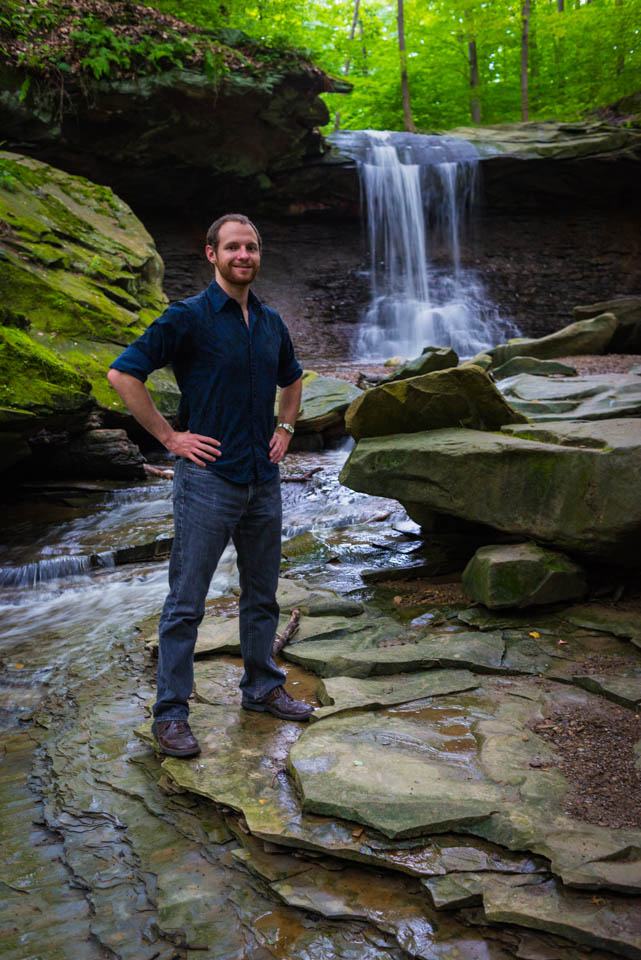 Dave Harrell and Blue Hen Falls