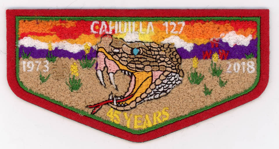 Patch - 2018 Anniversary Chenille Front